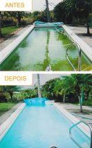Tratamento de piscina verde