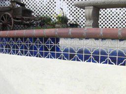 Crosta no rejunte da piscina