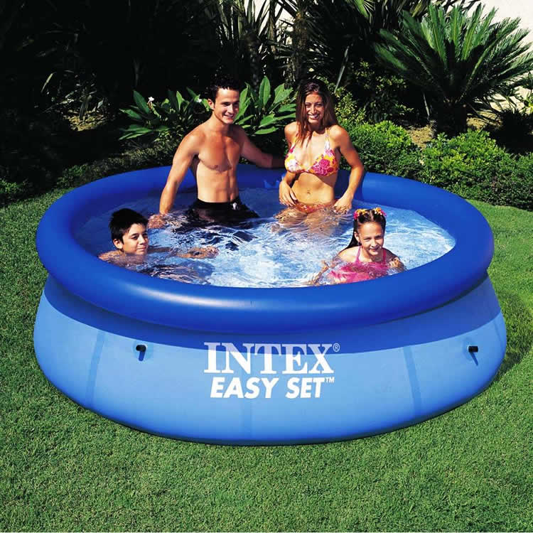 piscina intex easy set d vidas frequentes. Black Bedroom Furniture Sets. Home Design Ideas