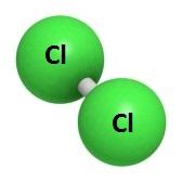 Molécula de cloro