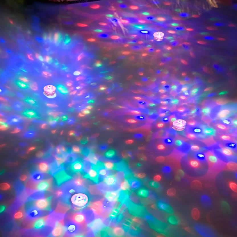 Discos de iluminação subaquática