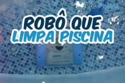 Robô que limpa piscina