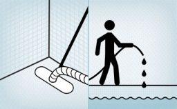 Aspirar o fundo da piscina e completar o nível