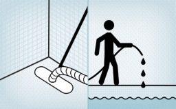 Aspirar o fundo da piscina e completar o nível - 3º passo