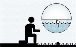 Coloque o flutuador na piscina