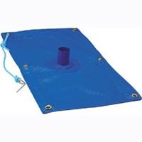 Capa de proteção de piscina com dreno