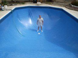 Construir piscina de vinil aquecida