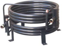 Condensador tube in tube de bomba de calor
