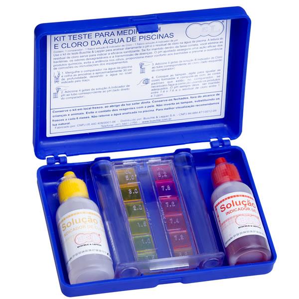 Kit de testes de teste para medir o cloto total na piscina
