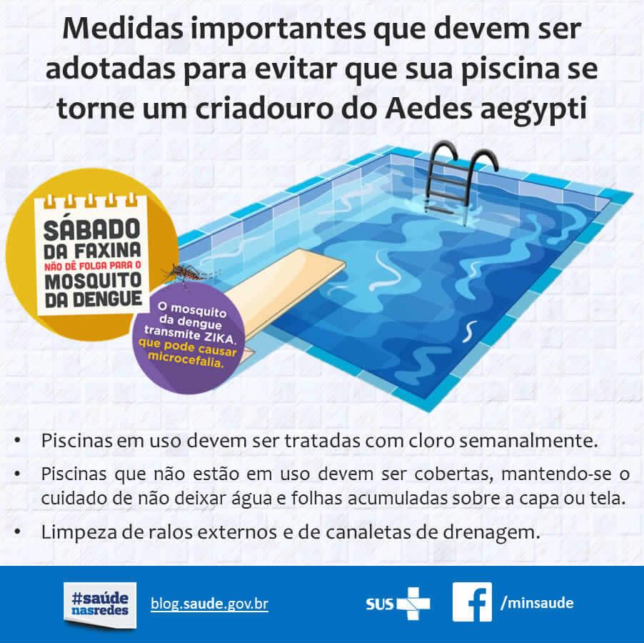 Contra a dengue na piscina