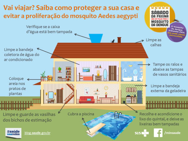 Guerra contra a dengue na piscina