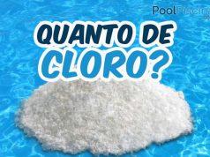 Quanto de cloro colocar na piscina?