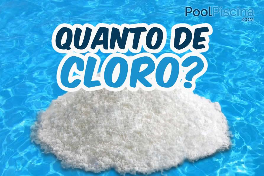 Quanto de cloro colocar na piscina for Cloro para piscinas