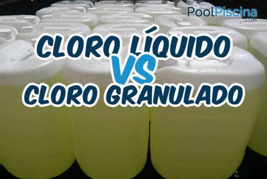 Cloro liquido e cloro granulado